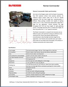 Technical Data sheet describing COMMANDER triple monochromator for Raman and Thomson scattering