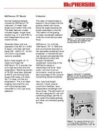Technical Data sheet describing normal incidence monochromator and spectrometer